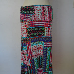 Multi colored Knit Maxi Skirt